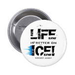 LIFE IS BETTER ON ICE! BUTTONS