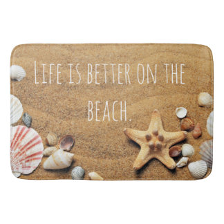 Life is Better On the beach Fun Nautical inspired Bath Mat
