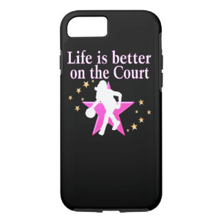LIFE IS BETTER ON THE COURT iPhone 7 CASE