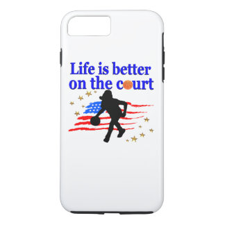 LIFE IS BETTER ON THE COURT USA DESIGN iPhone 7 PLUS CASE