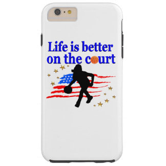LIFE IS BETTER ON THE COURT USA DESIGN TOUGH iPhone 6 PLUS CASE