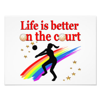 LIFE IS BETTER ON THE COURT VOLLEYBALL DESIGN ART PHOTO