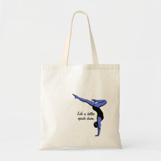 Life is better upside down - handstand budget tote bag