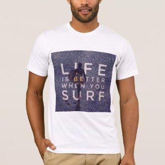 LIFE IS BETTER WHEN YOU SURF - Deep Opal