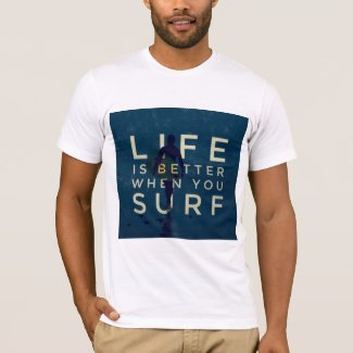 LIFE IS BETTER WHEN YOU SURF - Marine Blue