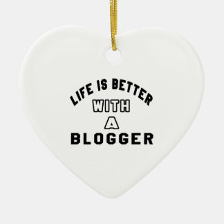 Life Is Better With A Blogger Christmas Tree Ornament