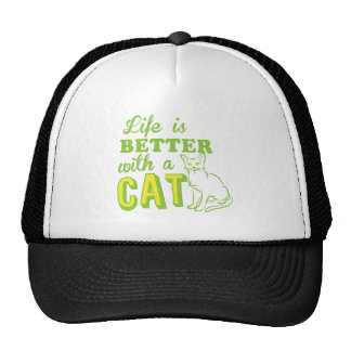 life is better with a cat cap