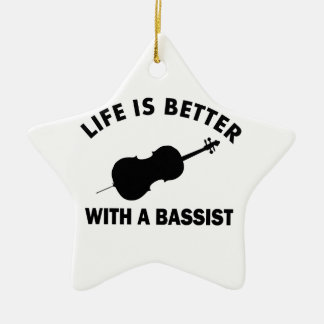 Life is better with a double bass christmas ornament