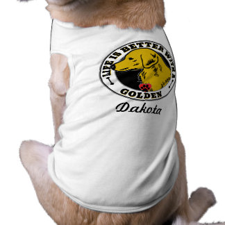 Life Is Better With A Golden Personalized Sleeveless Dog Shirt