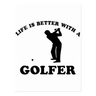 Life is better with a Golfer Postcard