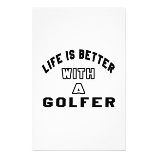 Life Is Better With A Golfer Stationery Design