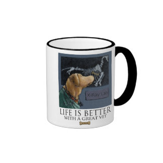 Life Is Better With A Great Vet Yellow Labrador Ringer Mug