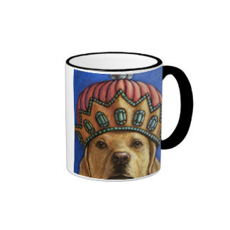 """""""Life is Better With a Lab"""" Queen Lab With Crown Coffee Mug"""