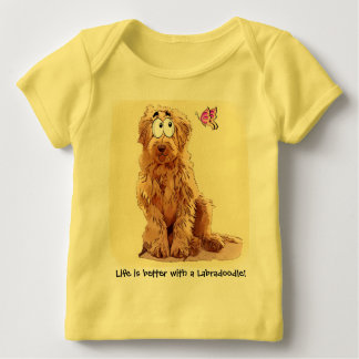 Life is better with a Labradoodle Baby T-Shirt