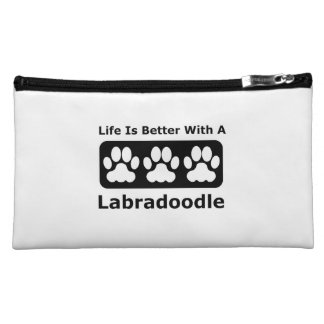 Life Is Better With A Labradoodle Makeup Bags