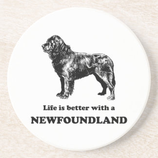 Life Is Better With A Newfoundland Beverage Coaster
