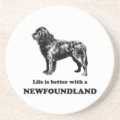 Life Is Better With A Newfoundland Beverage Coasters