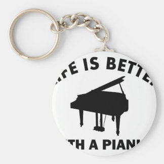Life is better with a pianist key chains