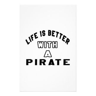 Life Is Better With A Pirate Customized Stationery