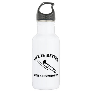 Life is better with a trombonist 532 ml water bottle