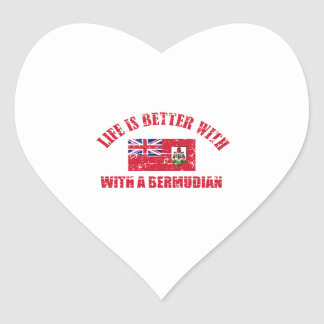 Life is better with an BERMUDIAN Heart Sticker
