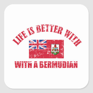 Life is better with an BERMUDIAN Square Sticker