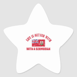 Life is better with an BERMUDIAN Star Sticker