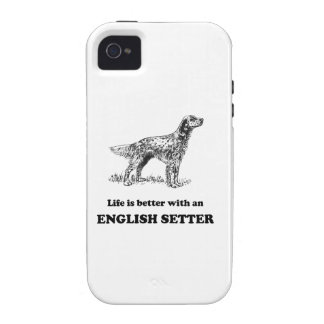 Life Is Better With An English Setter Vibe iPhone 4 Covers