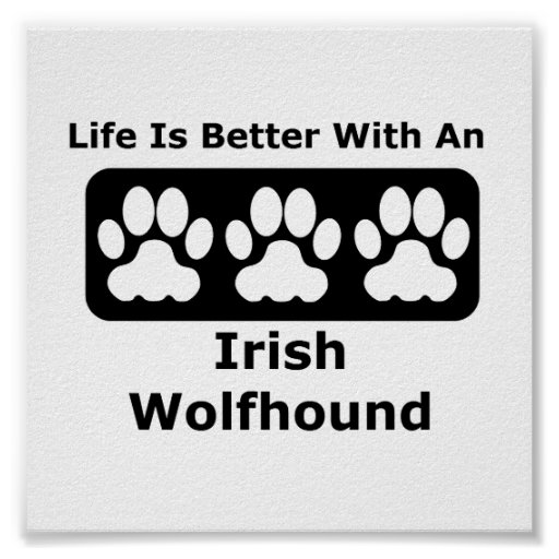 Life Is Better With An Irish Wolfhound Poster
