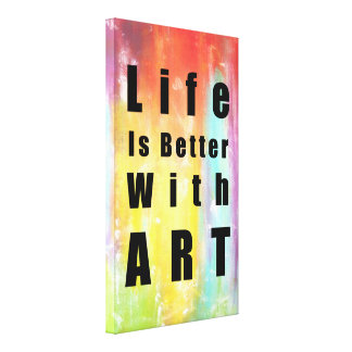 Life Is Better With Art Large Canvas Print