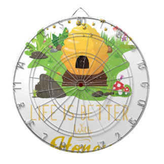 Life Is Better with Honey Environmental Beekeeper Dartboard