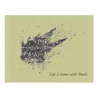 Life is Better with Math Postcard