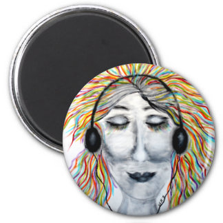 Life Is Better With Music Art Round 6 Cm Round Magnet