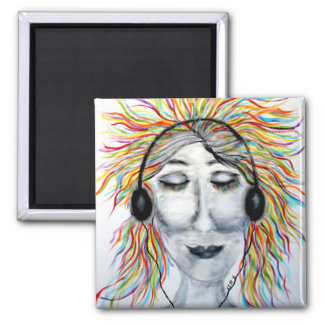 Life Is Better With Music Art Square Square Magnet