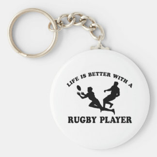 Life is better witha Rugby Player Key Ring