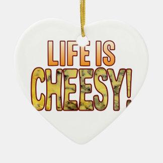Life Is Blue Cheesy Ceramic Heart Decoration