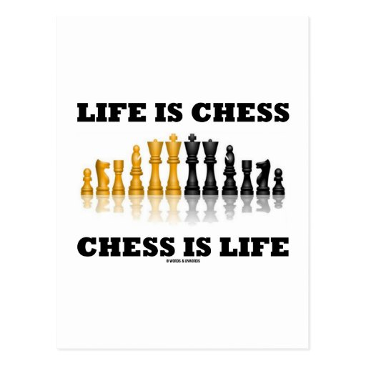 Life Is Chess Chess Is Life (Reflective Chess Set) Postcards