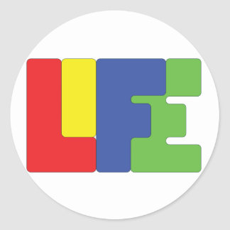 Life is color. round sticker