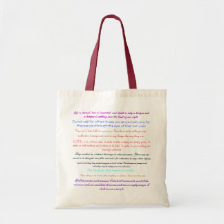 Life is eternal, love is immortal, and death i... canvas bag