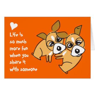 Life is fun Wedding Chihuahua Card