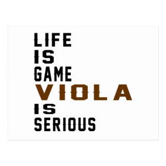 Life is game Violais serious Postcard