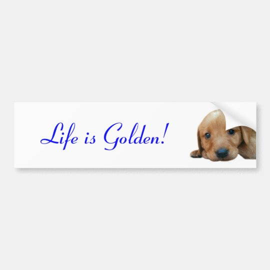 Life is Golden! Bumper Sticker