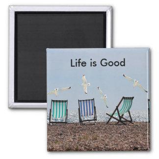 Life is Good Beach Magnet