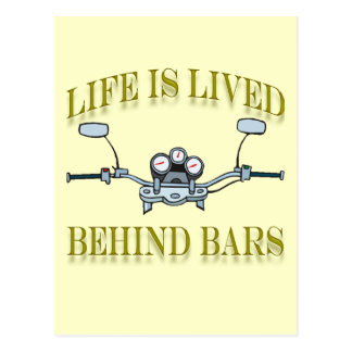 Life Is Good Behind Bars Motorcycle Handlebars Post Card