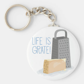 Life is Grate Basic Round Button Key Ring