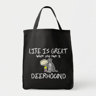 Life is Great Deerhound Tote Bag