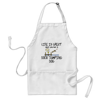 Life is Great Dock Jumping Adult Apron