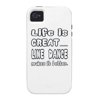 Life is great Line dance makes it better iPhone 4/4S Cover