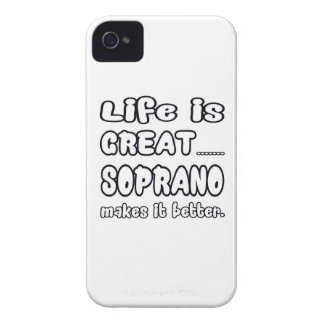 Life is great Soprano makes it better iPhone 4 Cover