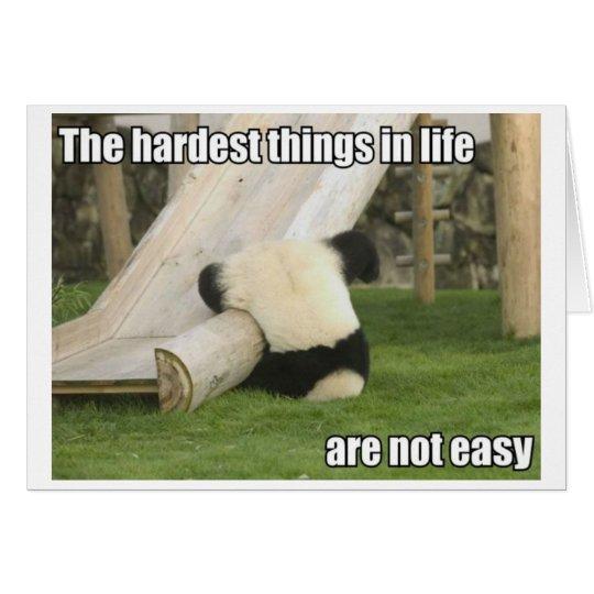 Life is Hard Panda greeting card
